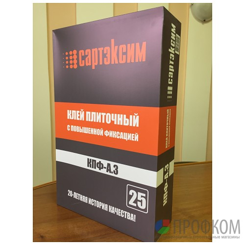 Клей плиточный с повышенной фиксацией КПФА-3 25 кг