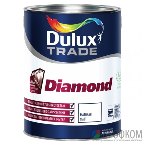 Краска Dulux Diamond Matt bs BW (1л)
