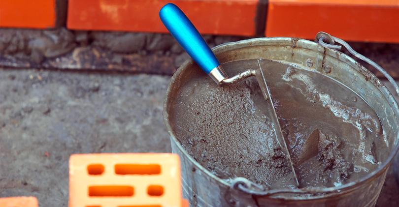 цементно песчаным раствором